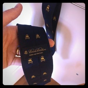 Brooks Brothers Neck Tie - Blue, embroidered